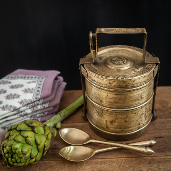 Antique Brass tiffin