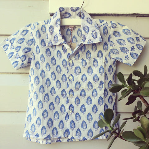 Hamish block print shirt Fresh