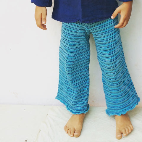 Cotton knit pant blue