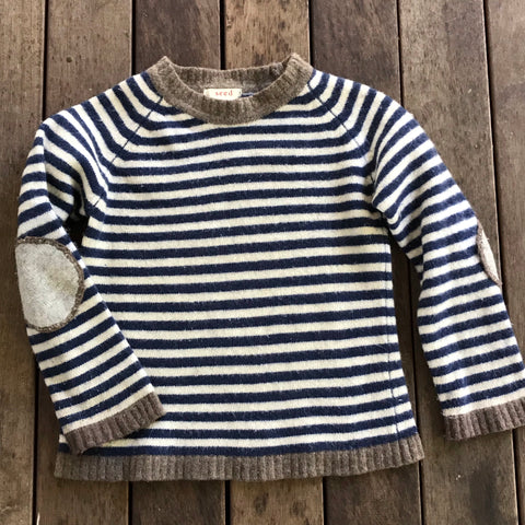 SEED striped knit