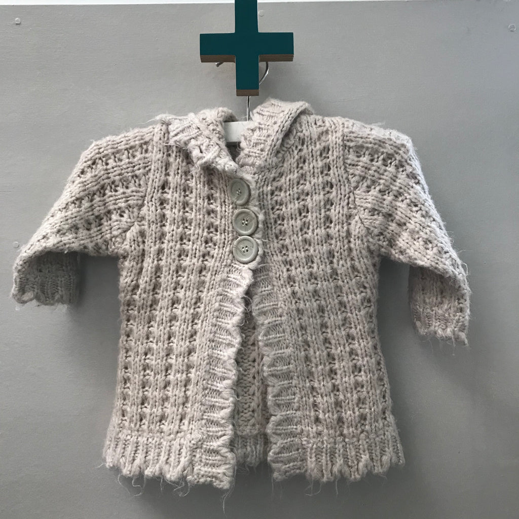 Hooded cardigan 6m-1yr