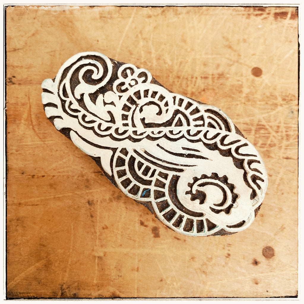 Woodblock stamp small