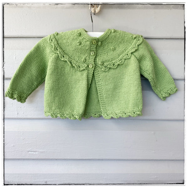 Handknitted cardigan size 6m-1y