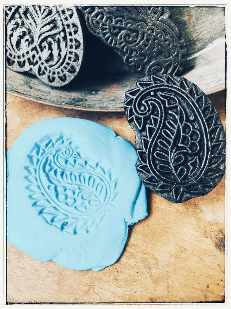 Vintage woodblock stamp