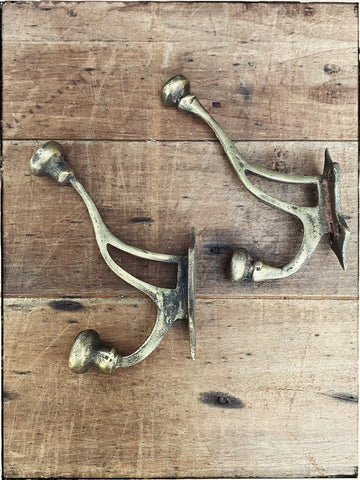 Vintage brass spliced wall hook