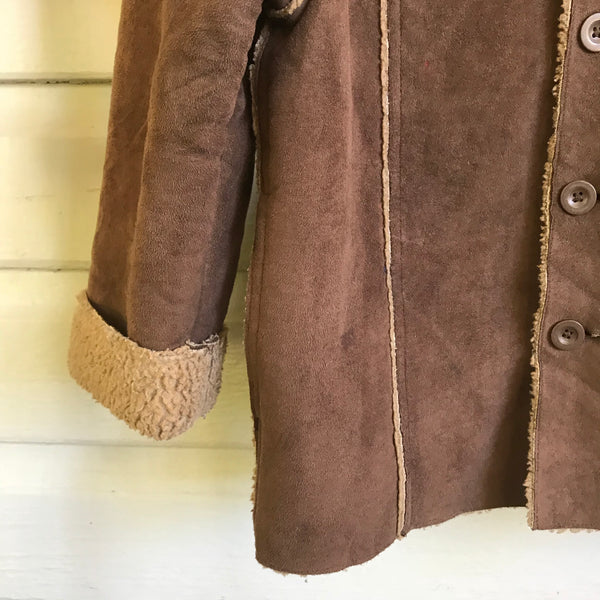 Shearling coat sizes 4+6