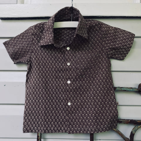 Boys cotton shirt cocoa