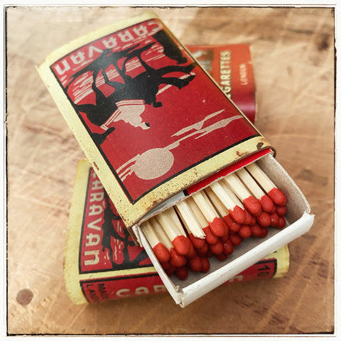 Vintage matchbox covers