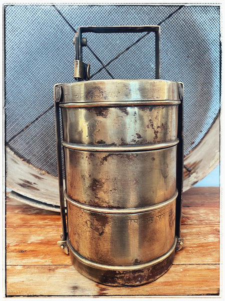 Vintage Bombay brass tiffin