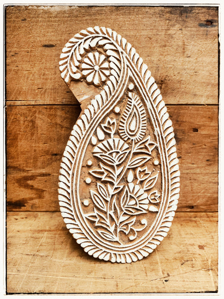 Paisley Woodblock stamp - extra large