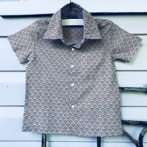 Boys cotton shirt latte