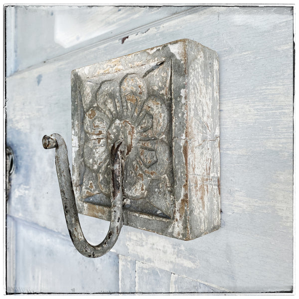 Antique wall hook Grey