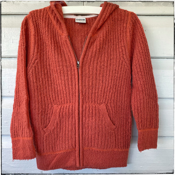 Cotton knit zip cardigan size 6