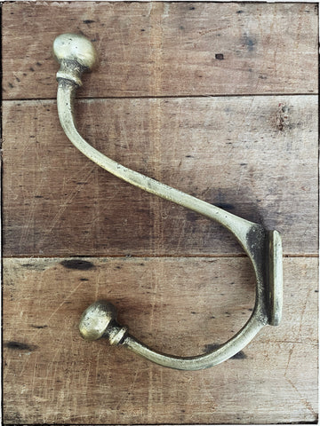 Vintage brass wall hook