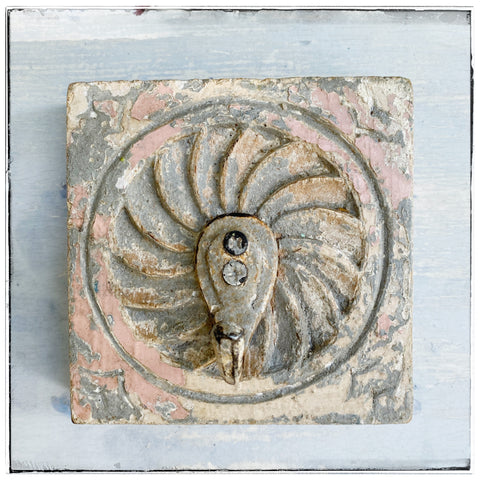 Antique wall hook Grey/pink