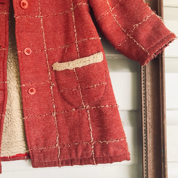 French vintage coat size 4