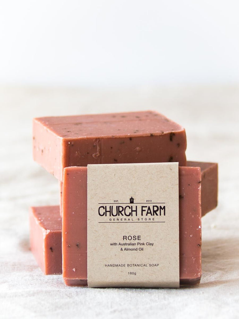 Rose and Pink Clay Soap