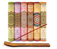 Utopia Scents Premium Incense Sticks, Lavender, Sandalwood, Jasmine, Patchouli, Rose, Vanilla, Variety Gift Pack 180 Sticks, Includes a Holder in Each Box