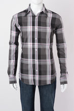 Grey Plaid Long Sleeve Shirt
