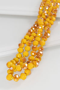 Glass Bead Knotted Necklace