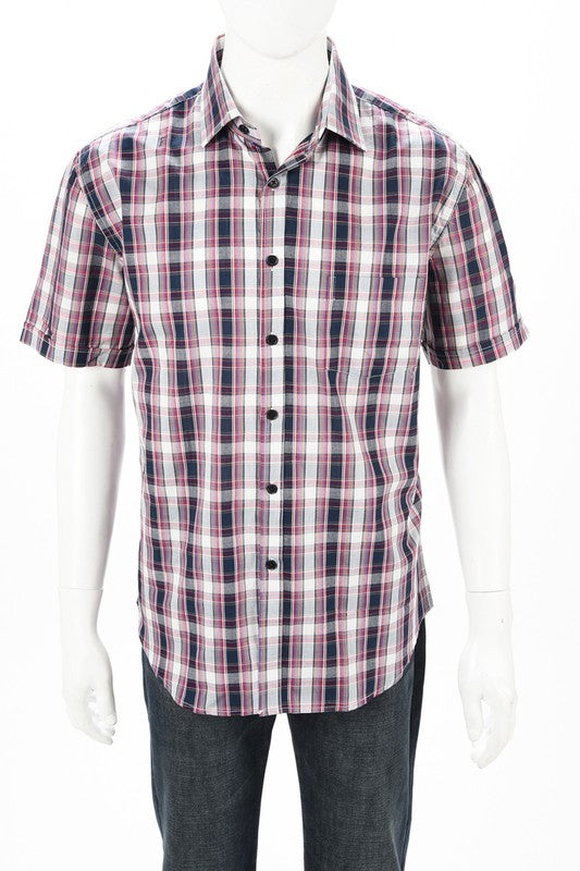 Men's short sleeve soft button up