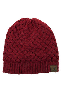C.C Knitted Basketweaved Beanie