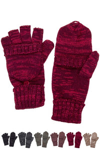 Gloves With A Mitten Flap