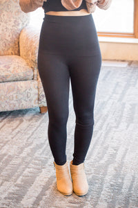 Black- High Waist Leggings