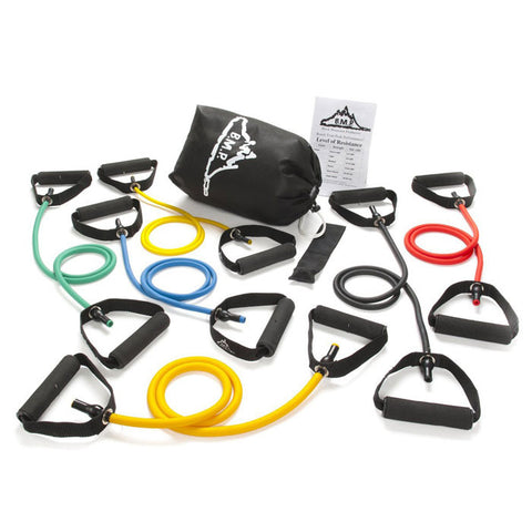 Strong Man Set of 6 Resistance Bands Plus Guide and Bag - Resistance Bands - Resistance Bands Australia - 1