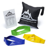 Set of 3 Loop Bands Plus Guide and Bag - Resistance Bands - Resistance Bands Australia - 1