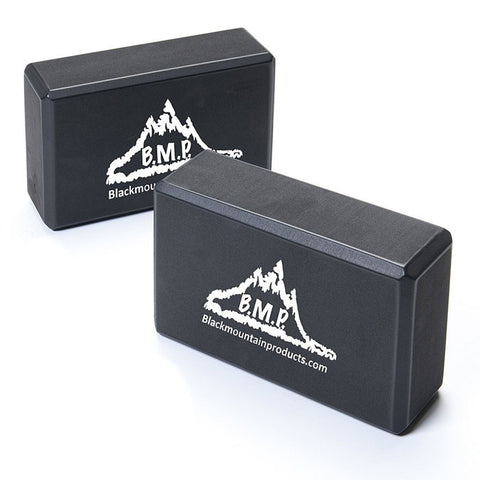 Black Set of Two Yoga Blocks -  - Resistance Bands Australia - 1
