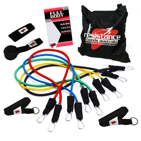 Resistance Band System Plus Guide and Bag - Resistance Bands - Resistance Bands Australia - 1