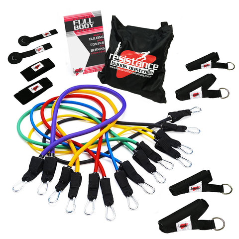 Ultimate Resistance Band System Plus Guide and Bag - Resistance Bands - Resistance Bands Australia - 1