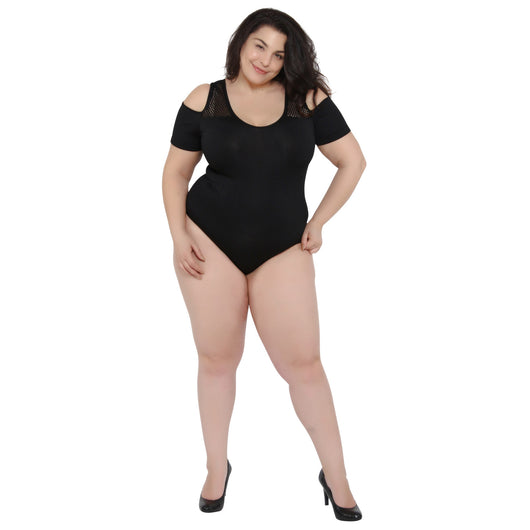 Plus Size Cold Shoulder Bodysuit