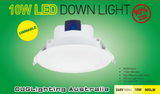 10W Led WARM WHITE 3000K Downlight