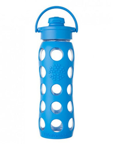 22 oz Glass Bottle with Flip Cap and Silicone Sleeve