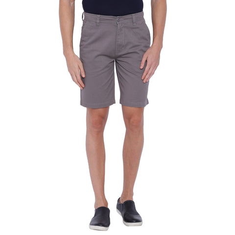 Blue Wave Grey Casual Short for Men