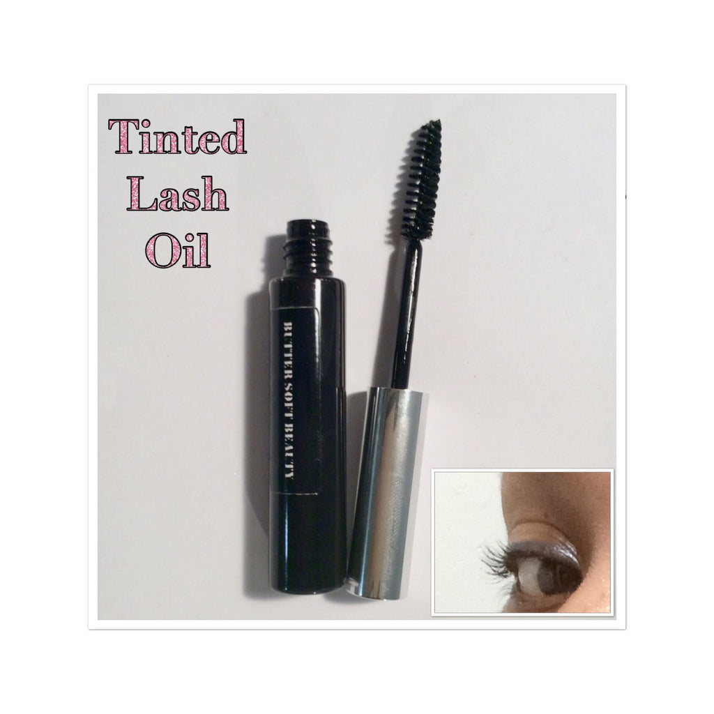 Lash oil, natural makeup, mascara