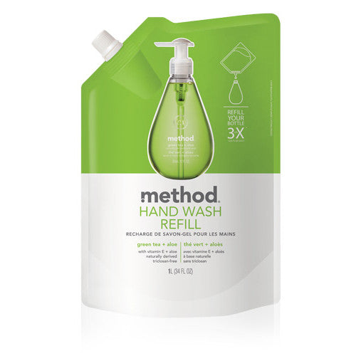 Gel Hand Wash Refill - greentea+ aloe 1L