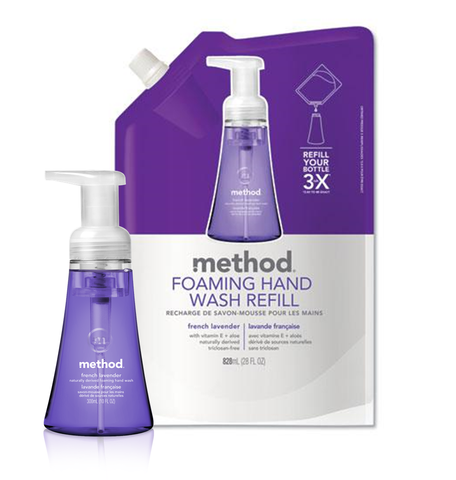 [bundle] Foaming Hand Wash Refill - French Lavender 828ml + Foaming Hand Wash French Lavender 300ml