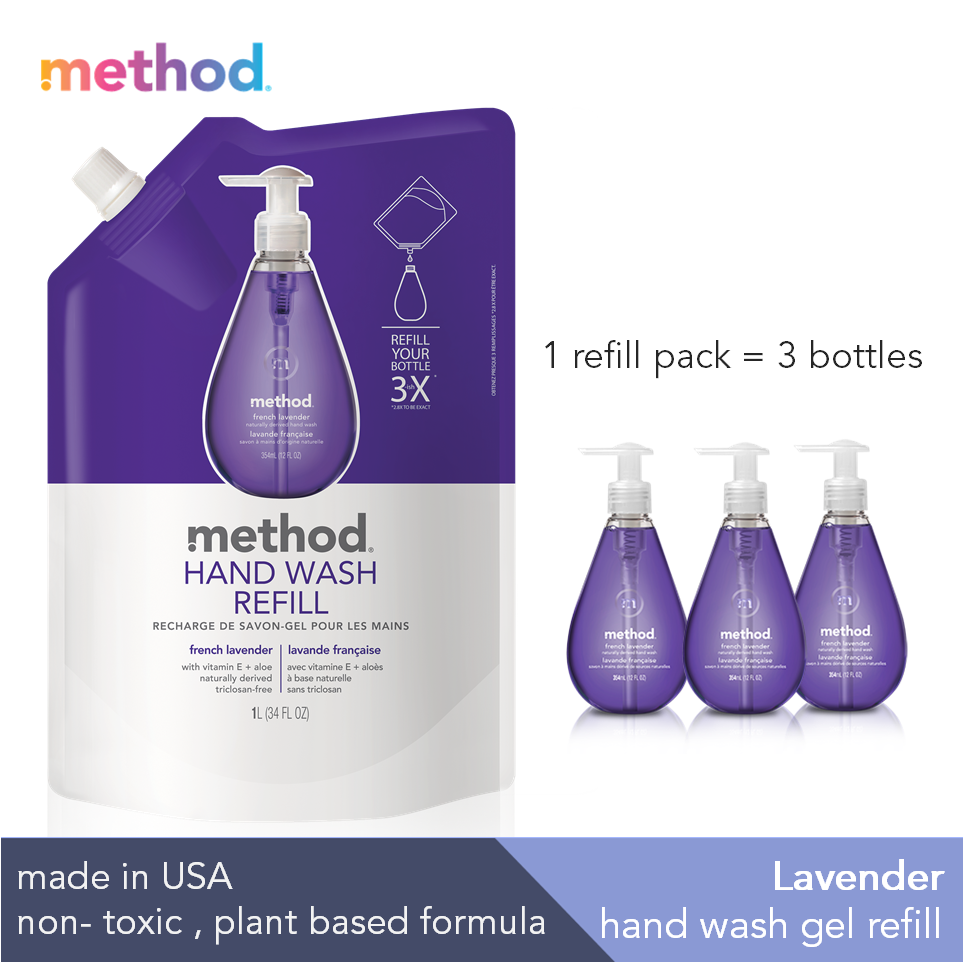 Gel Hand Wash Refill - french lavender 1L