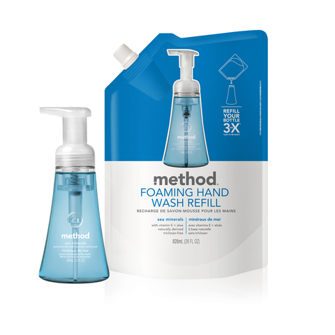[bundle] Foaming Hand Wash Refill - Sea Mineral 828ml + Foaming Hand Wash Sea Mineral 300ml