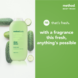 method unisex body wash - deep detox