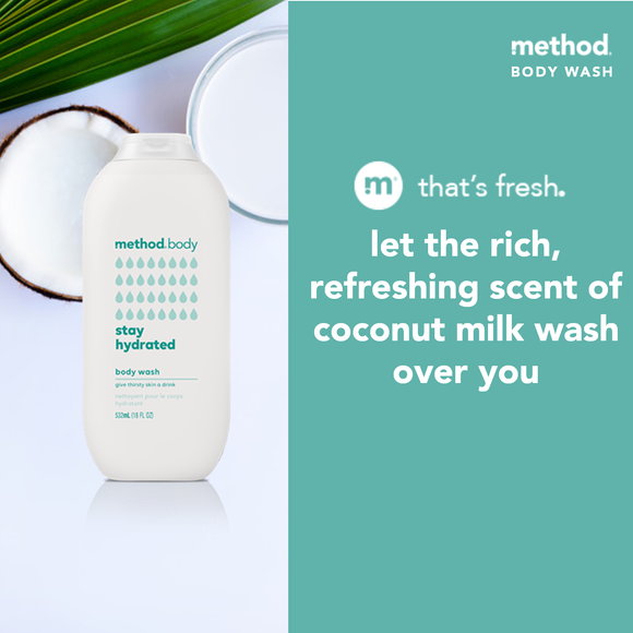method unisex body wash - stay hydrated