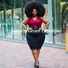 BOSS PENCIL SKIRT-PLUS SIZE