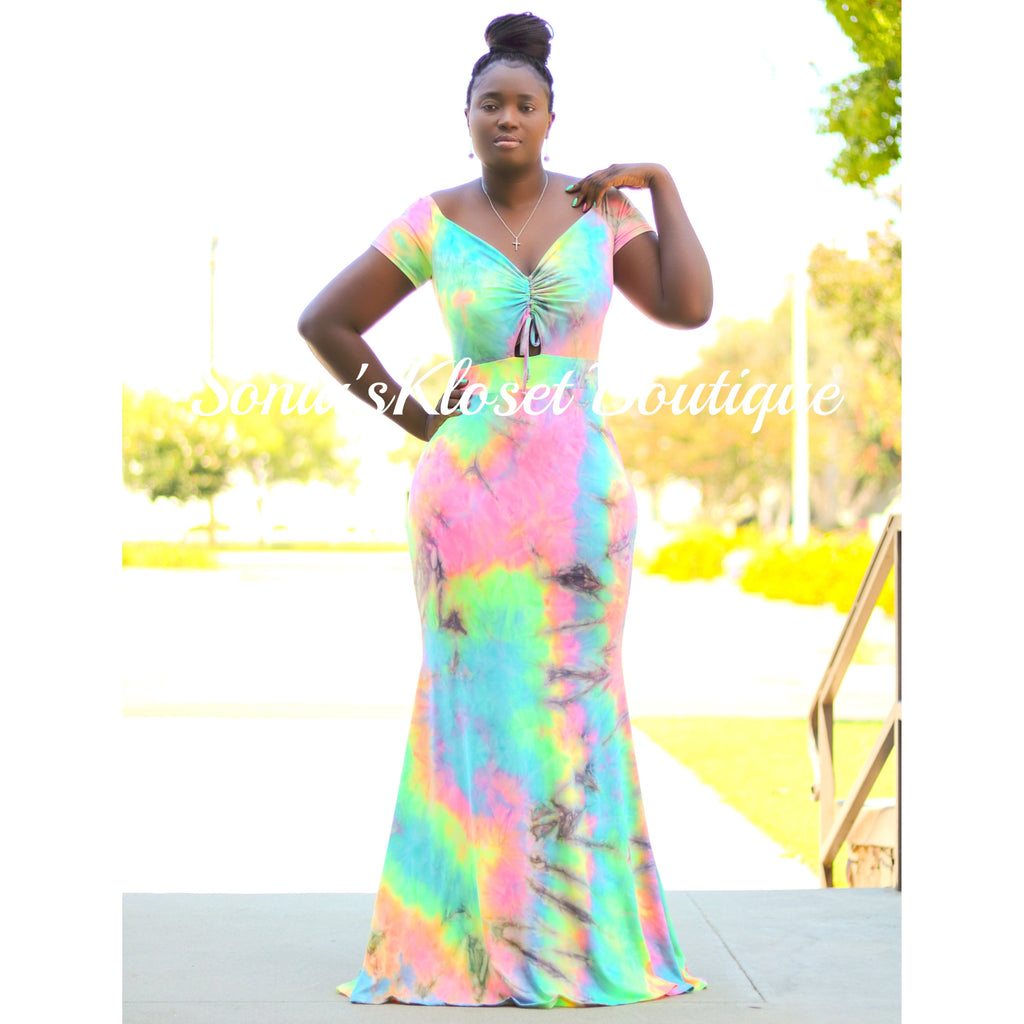 SWEET TIE DYE MAXI DRESS