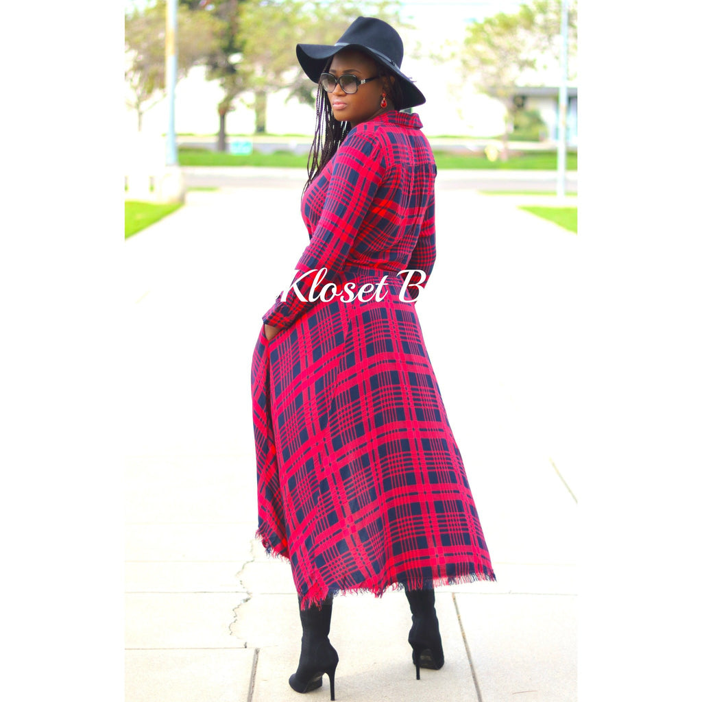 PLAID GIRL DRESS