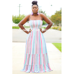 ACCORDION MAXI DRESS