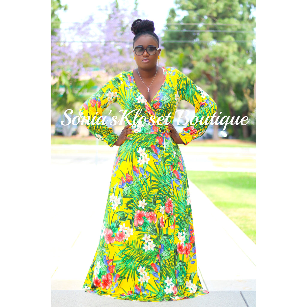 BLOSSOMING MAXI DRESS