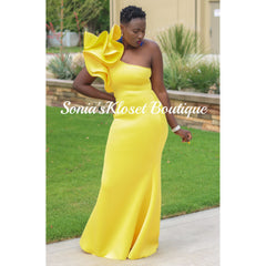 ANGEL RUFFLE GOWN